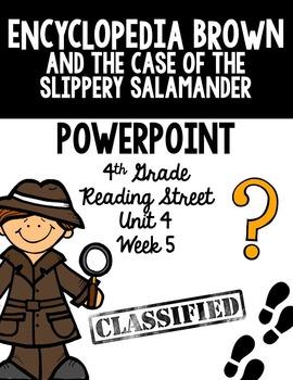 "4th Grade Reading Street ""Encyclopedia Brown"" PowerPoint Presentation"