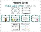 Reading Street Focus Wall- Fourth Grade- Unit 1
