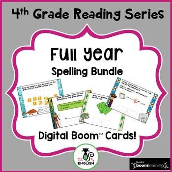 4th Grade Reading Street - Full Year Spelling Bundle - Digital Boom Cards