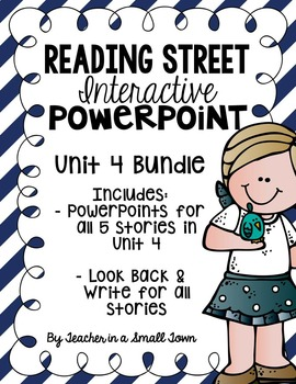 4th Grade Reading Street Interactive PowerPoints {Unit 4 Bundle}