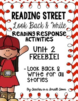 4th Grade Reading Street Look Back & Writes for Unit 2