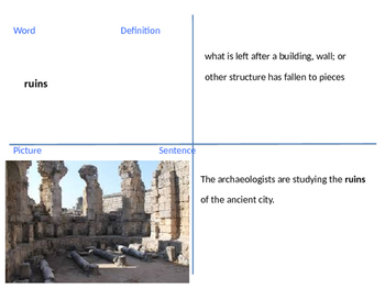 4th Grade Reading Street Lost City Unit 5 Week 2 Vocab Powerpoint