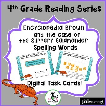 4th Grade Reading Street Spelling - Encyclopedia Brown - Boom Cards