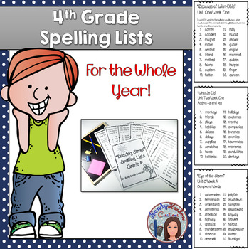 Reading Street 4th Grade Spelling Lists