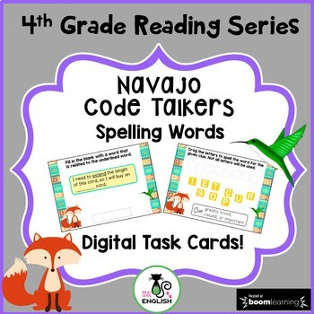 4th Grade Reading Street Spelling - Navajo Code Talkers - Boom Cards