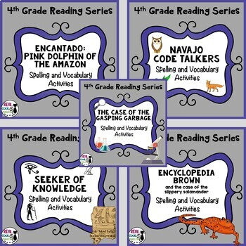 4th Grade Reading Street Spelling & Vocab Unit 4 bundle (printable only)