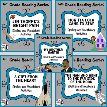 4th Grade Reading Street Spelling & Vocabulary (Unit 6 Bundle - Printable Only)