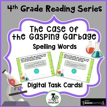 4th Grade Reading Street - The Case of the Gasping Garbage - Boom Cards FREEBIE!