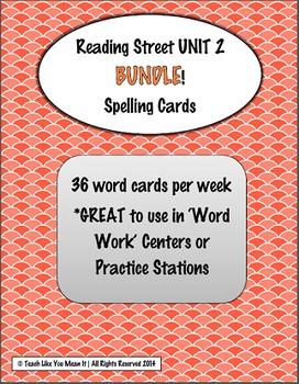 4th Grade Reading Street UNIT 2 SPELLING CARD BUNDLE