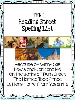 4th Grade Reading Street Unit 1 Spelling Posters