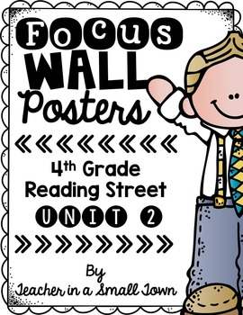 4th Grade Reading Street Unit 2 Focus Wall Posters
