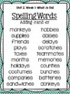 4th Grade Reading Street Unit 2 Spelling Posters