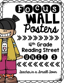 4th Grade Reading Street Unit 3 Focus Wall Posters