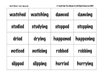 4th Grade Reading Street Unit 3 Week 1 SPELLING CARDS