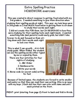 4th Grade Reading Street Unit 6 Spelling