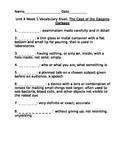 4th Grade Reading Street Vocabulary Rivets-Unit 4