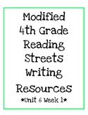 4th Grade Reading Streets Modified Look Back and Write Unit 6.1