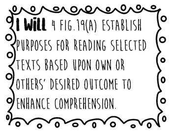 4th Grade Reading TEKS (Readiness Standards)