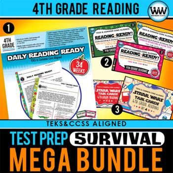 4th Grade Reading TEST PREP SURVIVAL MEGA BUNDLE STAAR / New ELAR TEKS