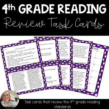 4th Grade Reading Task Cards