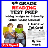 4th Grade Reading Test-Prep Passages, Critical Thinking Reading Response