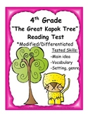 4th Grade Reading Test - The Great Kapok Tree - Differenti