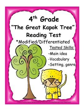 4th Grade Reading Test - The Great Kapok Tree - Differenti