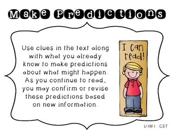 4th Grade Reading Wonders Focus Wall Strategies - Unit 1 Week 1 FREEBIE