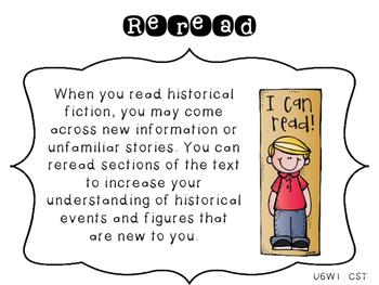 4th Grade Reading Wonders Focus Wall Strategies - Unit 6