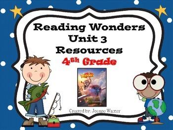 4th Grade Reading Wonders Resources Unit 3