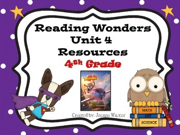 4th Grade Reading Wonders Resources Unit 4