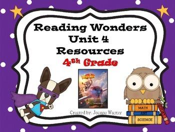 4th Grade Reading Wonders Resources Unit 4
