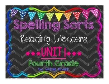 4th Grade Reading Wonders Unit 1 Spelling Sorts