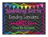 4th Grade Reading Wonders Unit 2 Spelling Sorts