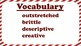 4th Grade Reading Wonders Unit 2 Week 5 Vocabulary w/ Definitions Word Wall FREE