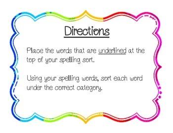 4th Grade Reading Wonders Unit 4 Spelling Sorts
