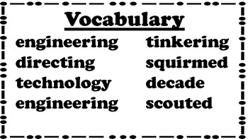4th Grade Reading Wonders Unit 4 Week 3 Vocabulary with Definitions Word Wall