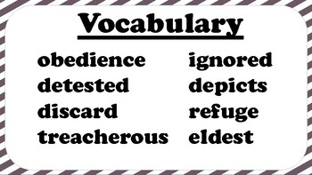 4th Grade Reading Wonders Unit 6 Week 2 Vocabulary with Definitions Word Wall
