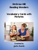 4th Grade Reading Wonders Vocabulary Cards with Pictures Unit 1