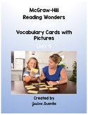 4th Grade Reading Wonders Vocabulary Cards with Pictures Unit 5
