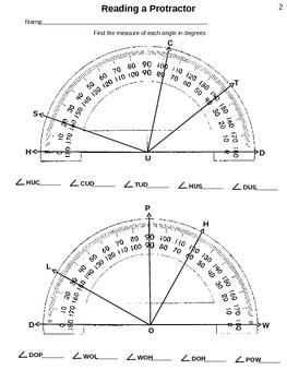 4th Grade (4.7C) STAAR: Reading a Protractor and Test (35 worksheets)