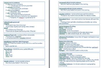 4th Grade Reading/ELA Florida Standards Assessment FSA Study Guide