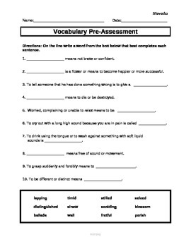 ReadyGen Vocabulary Assessments for Hiawatha