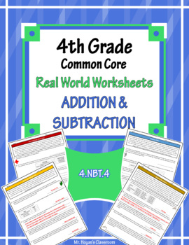 4th Grade Real World Problems: Addition and Subtraction