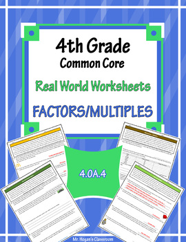 4th Grade Real World Problems: Factors and Multiples
