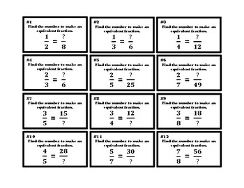 4th Grade Recognize & Generate Equivalent Fractions  4.NF.1