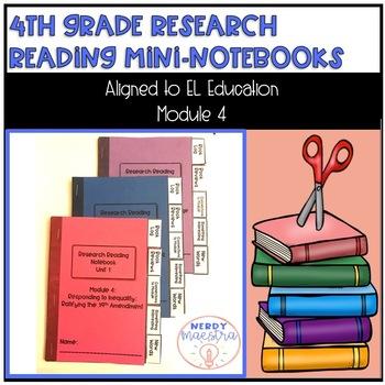 4th Grade Research Reading Mini Notebook for EL Education Module 4