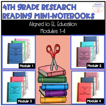 4th Grade Research Reading Mini Notebooks for EL Education Bundle