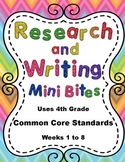4th Grade Daily ELA Review - Research and Writing Mini Bites Weeks 1 to 8