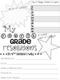 4th Grade Resolution Sheet